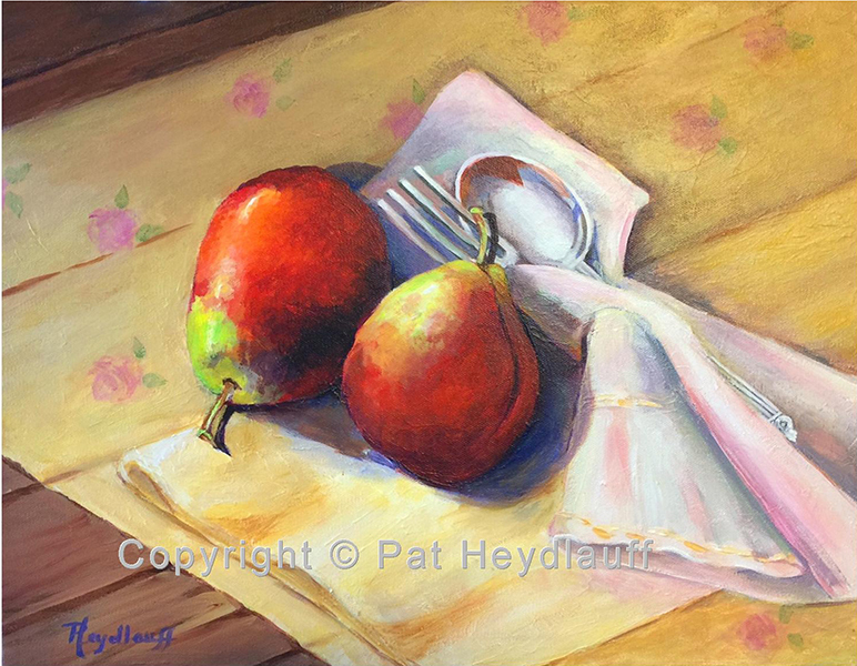Pear Twosome 18 x 14 OGP006