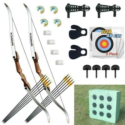 Лучный набор - 2 лука классических с наборами аксессуаров Archery Kit Family