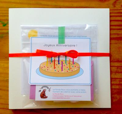 Kit créatif d'anniversaire