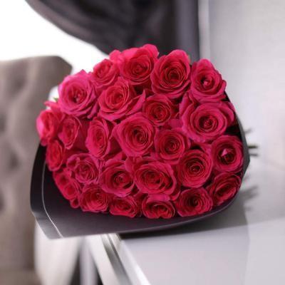 25 роз высотой 80 см