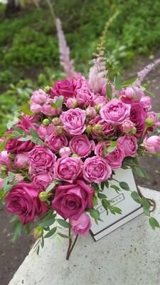 Аквабокс с пионовидной розой