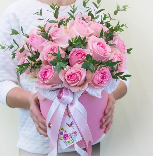 Аквабокс с розовыми розами