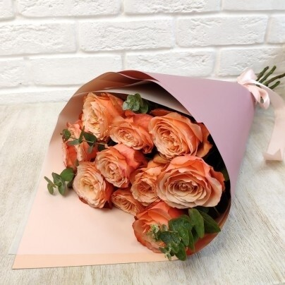 "Букет пионовидных роз ""кахала"""