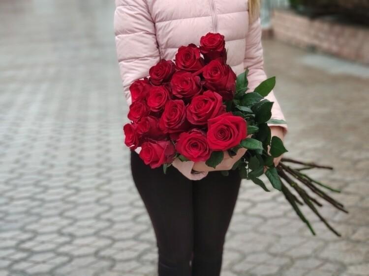 15 роз Эксплорер 80 см