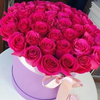 49 роз в аквабоксе