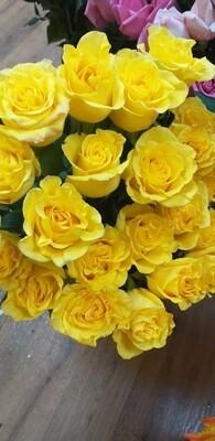 21 жёлтая Роза 80 см