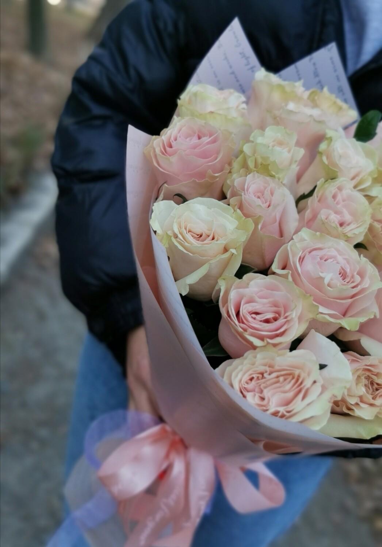 """25 роз """" Пинк мондиаль"""""""