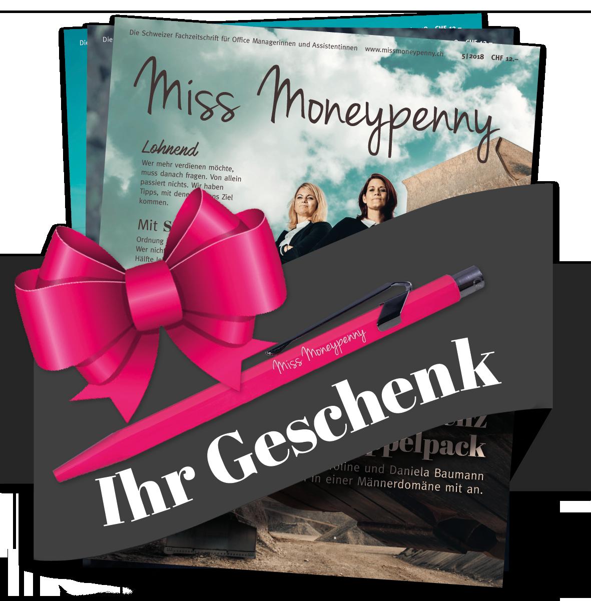 Miss Moneypenny Plus Abo mit Caran d'Ache Kugelschreiber als Geschenk 00012