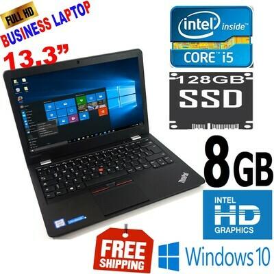 "Lenovo ThinkPad 13 HD High Performance-13.3"" Business Laptop i5 6200U 2.3 GHz 8 GB 128 GB SSD Win 10 PRO"