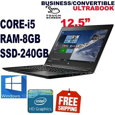 "Lenovo yoga 260 i5 8 GB 240 GB SSD-12.5"" FULL HD Touchscreen Business Convertible Ultrabook Win 10 PRO"