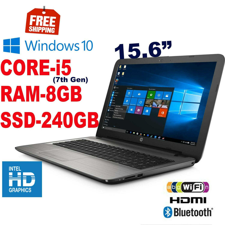 """HP Notebook-15-ay118tu (i5-7200U 2.5 GHz 8 GB 240 GB SSD)-15.6"""" HD Graphics Win10"""