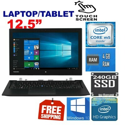 "Toshiba Portege Z20T-12.5"" FULL HD Touchscreen Detachable Laptop(M5 4GB 240GB SSD) Win10"
