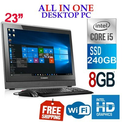 "Lenovo S400Z ALL-IN-ONE Desktop PC (i5-6200U 2.4 GHz 8 GB 240 GB SSD )-23"" HD Graphics Win 10 PRO"