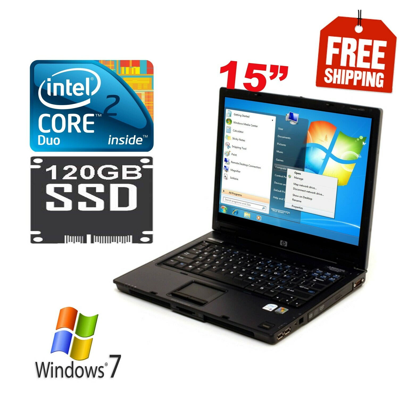"HP Compaq Business Notebook nx6320 - 15"" - Core 2 Duo T5600 2GB 120GB SSD Win7"