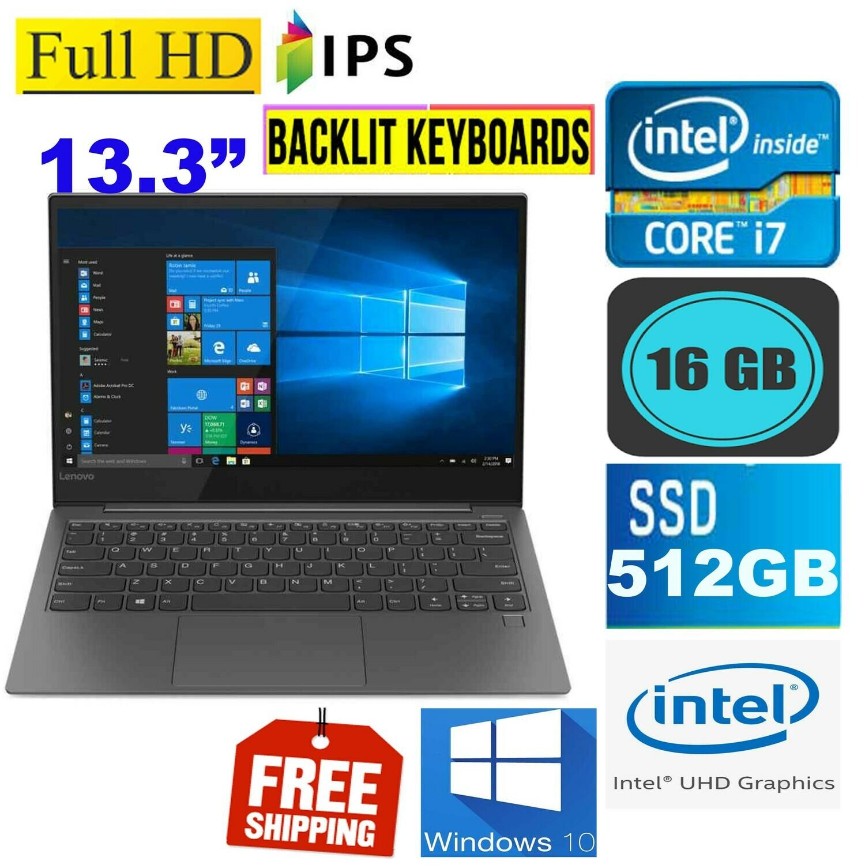 "Lenovo Yoga S730-13IML(i7-10th Gen 512 GB SSD 16 GB)-13.3"" FHD IPS LED Business Laptop Win 10 PRO"