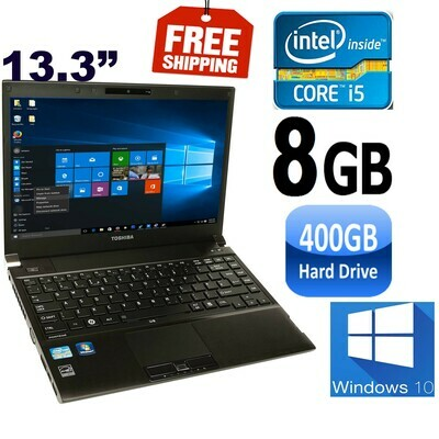 "Toshiba portege R830 i5 2.5 GHz 8 GB 320 GB HDD-13.3"" HD Graphics Notebook Laptop Win10"