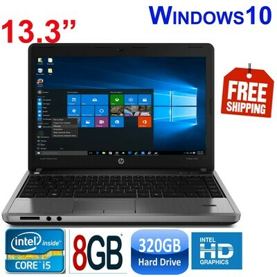 "HP proBook 4340S (i5-3210) 8GB 320GB HDD-13.3"" HD Graphics Notebook Laptop Win10 PRO"
