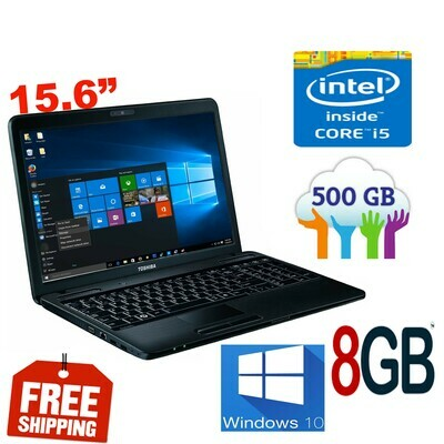 """Toshiba Satellite C660 i5 2.4 GHz 8 GB 500 GB HDD-15.6"""" HD Graphics Notebook Laptop Win10 PRO"""