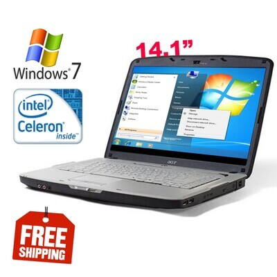 """Acer Aspire 4315 Intel Celeron 1.86 GHz 2 GB 160 GB HDD-14.1"""" HD Graphics Notebook Laptop Win7"""