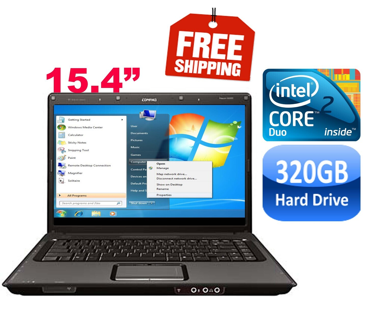"Compaq Presario V6000 C2D 1.73 GHz 2 GB 80 GB HDD-15.4"" HD Graphics Notebook Laptop Win 7 PRO"