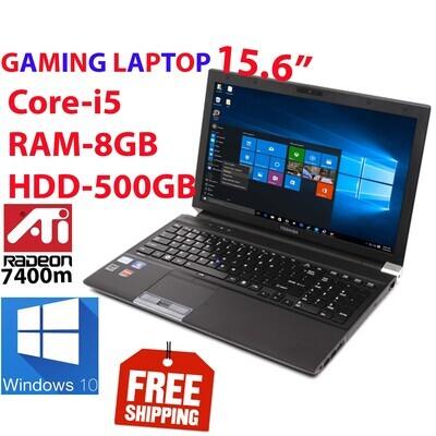 "Toshiba Tecra R850 i5 2.5 GHz 8 GB 500 GB HDD-15.6"" AMD Radeon HD-7400M Gaming Laptop Win10"