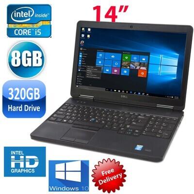 """Dell latitude E5440 i5-4310 8GB 320GB-14"""" HD Graphics Notebook Laptop Win10 PRO"""