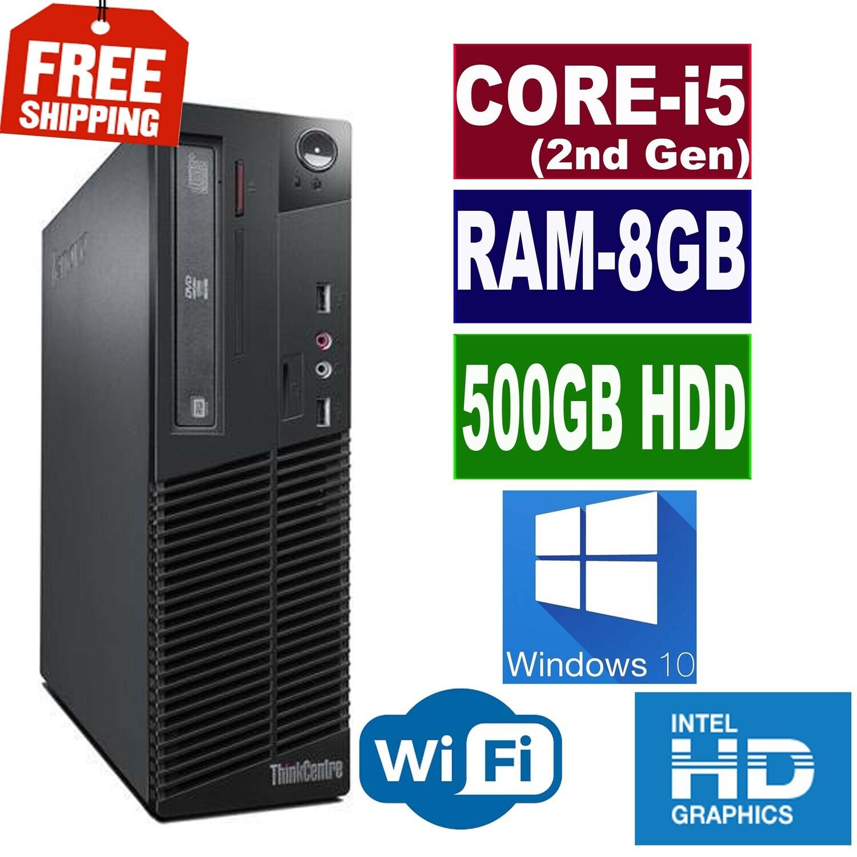 Lenovo Thinkcentre M71e (i5-2400 2.4 GHz 8 GB 500 GB) SFF Business Desktop Win 10