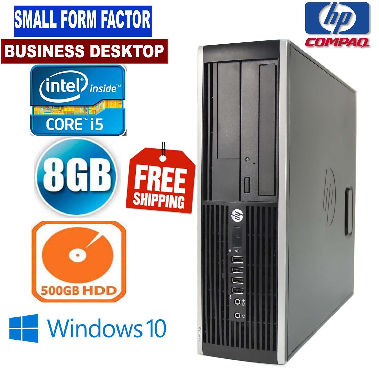 HP Compaq 6200 SFF Business Desktop i5 3 GHz 8 GB 500 GB DVD/RW WiFi USB 2.0 Win10