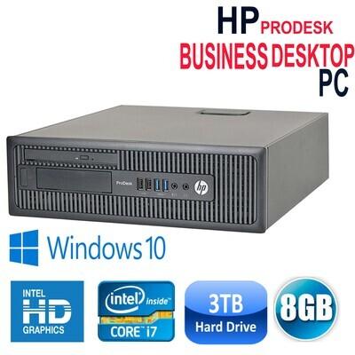 HP ProDesk 600-G1(SFF Business Desktop) i7-4700 8GB 3TB HD Graphics WiFi Win10