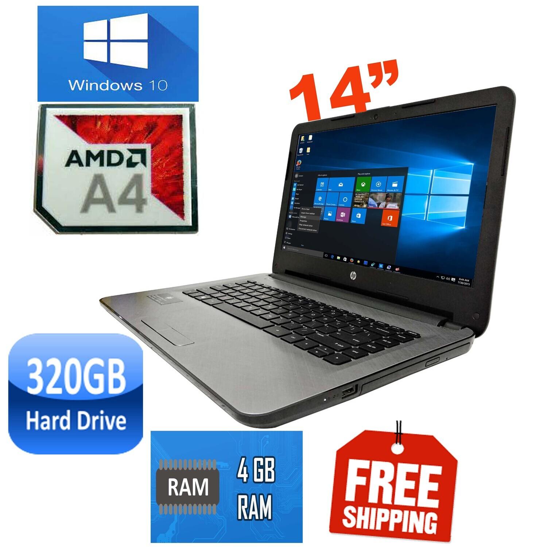 """HP 14 AF127AU AMD A4-5000 1.5GHz 4GB 320GB-14"""" HD LED Laptop WiFi HDMI Win10 PRO"""