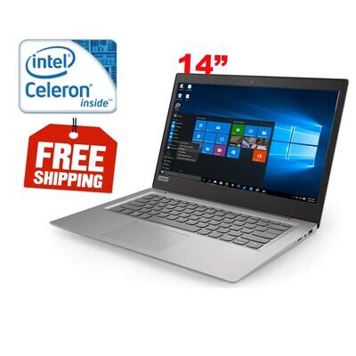"Lenovo ideapad 120S-14IAP Celeron N3350 1.6GHz 4GB 60GB SSD-14"" LED Laptop Win10"