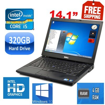 """Dell latitude E6410 i5 4 GB 320 GB HDD-14.1"""" HD Graphics-Notebook Laptop Win7"""