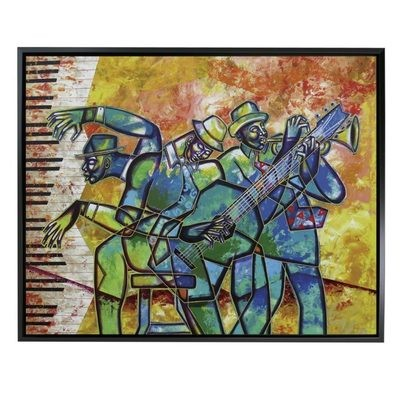 FUNKY INTERLUDE FRAMED CANVAS ART