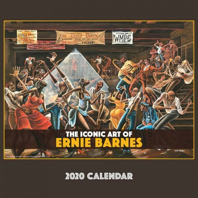 THE ICONIC ART OF ERNIE BARNES 2020 WALL CALENDAR