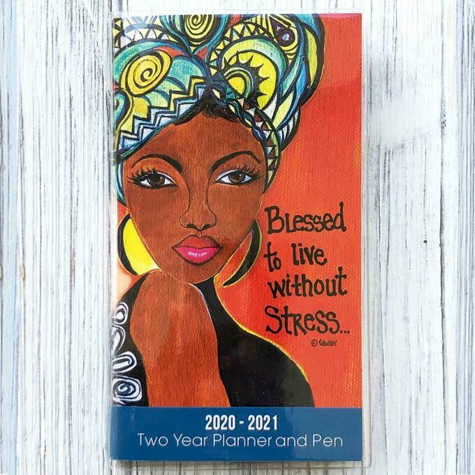 BLESSED TO LIVE WITHOUT STRESS 2020 – 2021 TWO YEAR PLANNER