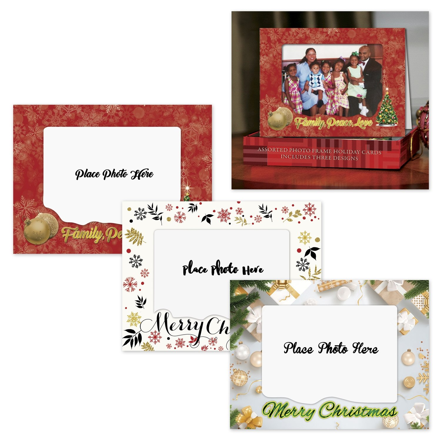 ASSORTED PHOTO FRAME HOLIDAY CARDS