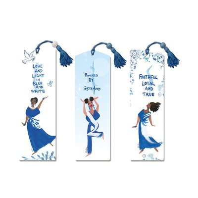 FAITHFUL, LOYAL AND TRUE & LOVE AND LIGHT IN BLUE AND WHITE & POWERED BY SISTERHOOD