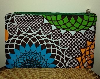 NSSA AFRICAN PRINT COSMETIC BAG
