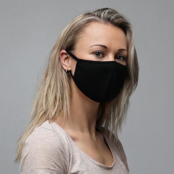 3 Pack, Black Face Masks