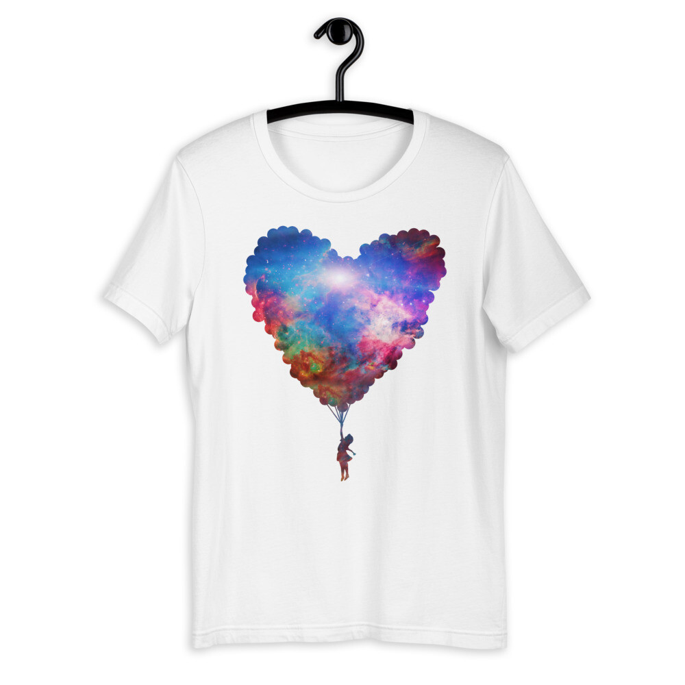 Girl with Cosmic Balloon T-Shirt