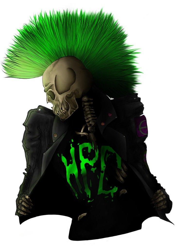 Punk Skeleton Poster