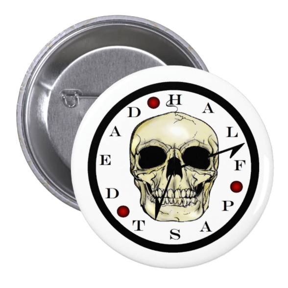 Skull Clock Button