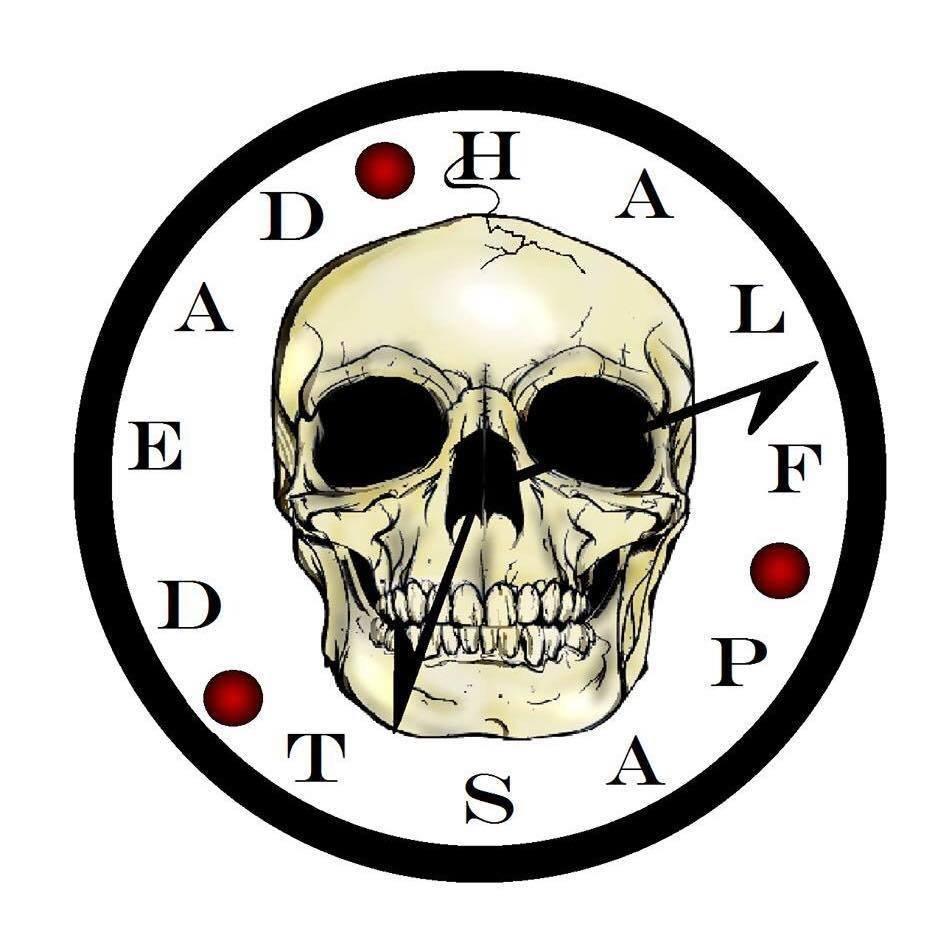 Skull Clock Sticker