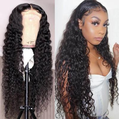 4x4 Lace Closure Brazilian Hair Wigs