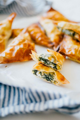 Vegan Spanakopita Triangles