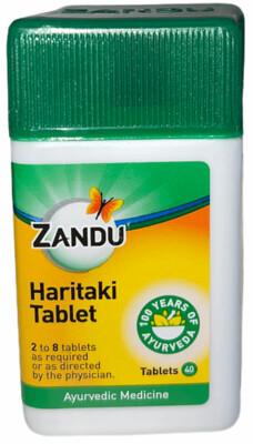 Zandu Haritaki (Harde) Tablets