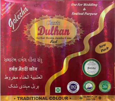 Dulhan Herbal Mehndi Cones Red