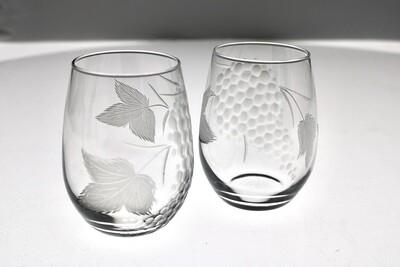 Grape Cluster Stemless Wine Glass