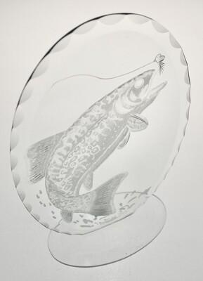 Wheel engraved salmon