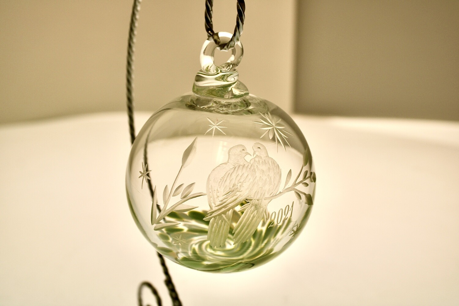 """Limited Edition 2021 Christmas Ornament """"Two Turtledoves"""""""